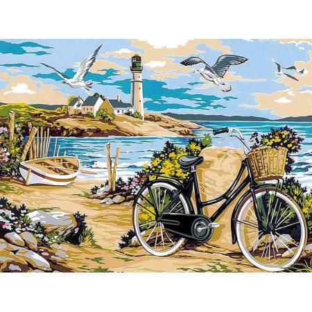 Картина по номерам «прогулка по пляжу», модель vk052