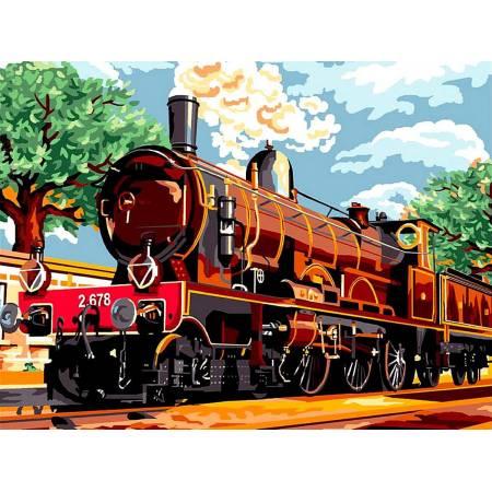 Картина по номерам поезд из прошлого vk059, Babylon