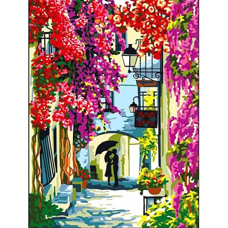Картина по номерам Цветочная улочка - 2 vk061, Babylon