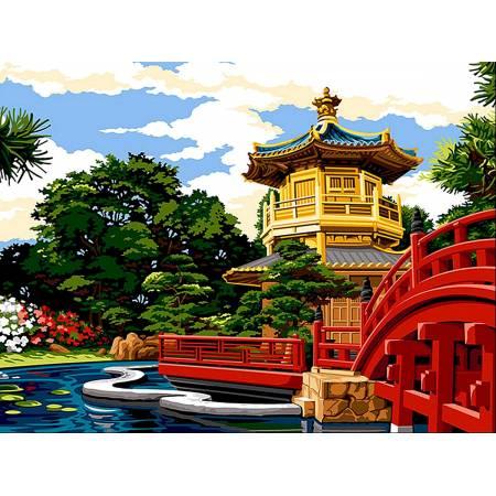 Картина по номерам Японский мостик vk065, Babylon