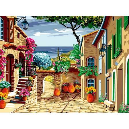 Картина по номерам Цветущий дворик vk068, Babylon