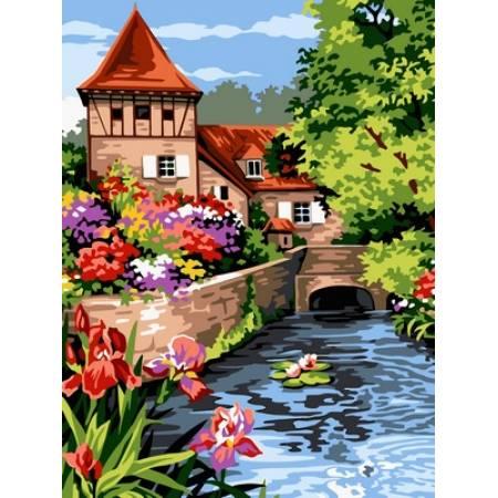 Картина по номерам Мельница в цвету VK096, Babylon