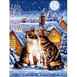 Зимние котики