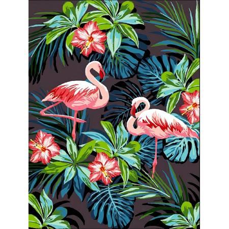 Картина по номерам Фламинго в цветах VK187, Babylon