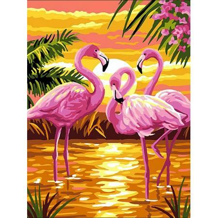Картина по номерам Фламинго на закате VK188, Babylon