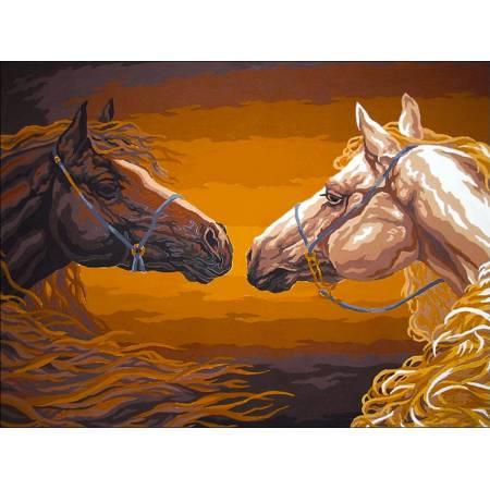Картина по номерам Прекрасные лошади VK189, Babylon
