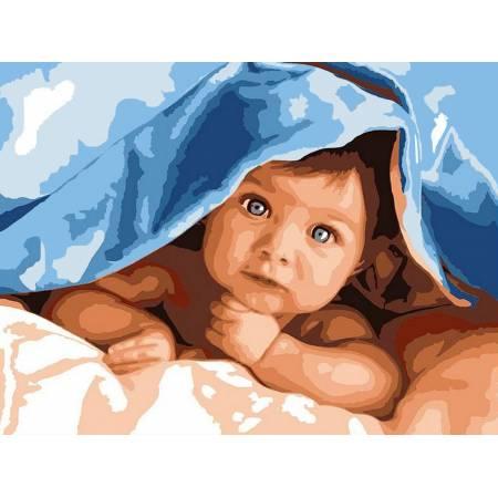 Картина по номерам Любознательный малыш VK193, Babylon