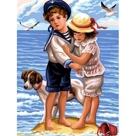 Картина по номерам Дети на берегу VK194, Babylon