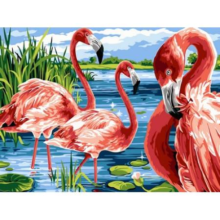 Картина по номерам Фламинго на озере VK207, Babylon
