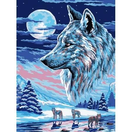 Картина по номерам Волки под луной VK213, Babylon