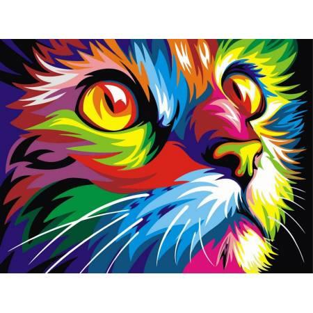 Картина по номерам Радужный кот VKS002, Babylon
