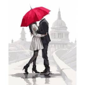 Нежные чувства под алым зонтом