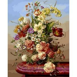 Пионы и полевые цветы