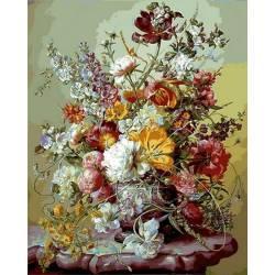 Тюльпаны и розовые пионы