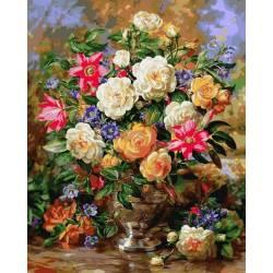 Лилии и жёлтые розы