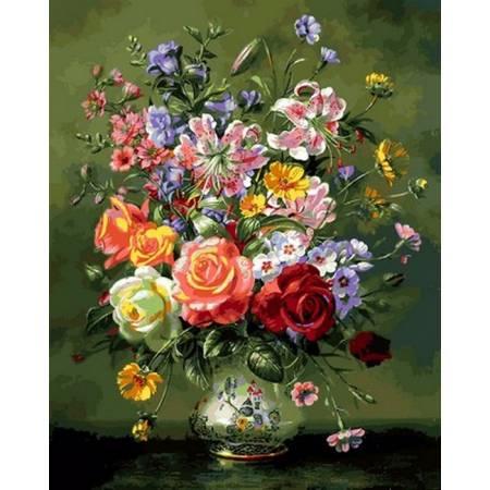 Коралловые розы и лилии