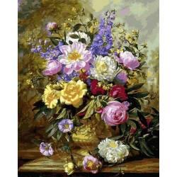 Букет белых и жёлтых роз