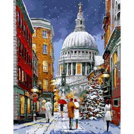 Картина по номерам «Прогулка перед Рождеством», модель VP1069