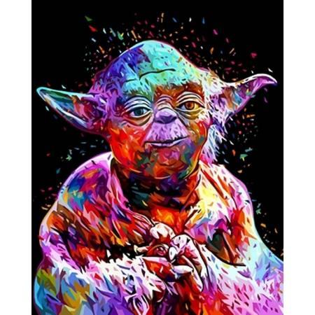 Картина по номерам «Звездные войны Мастер Йода», модель vp1073