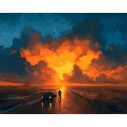 Яркий закат