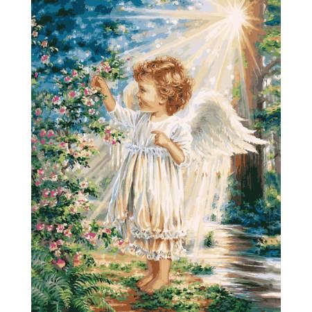 Картина по номерам Весенний ангелочек VP903, Babylon