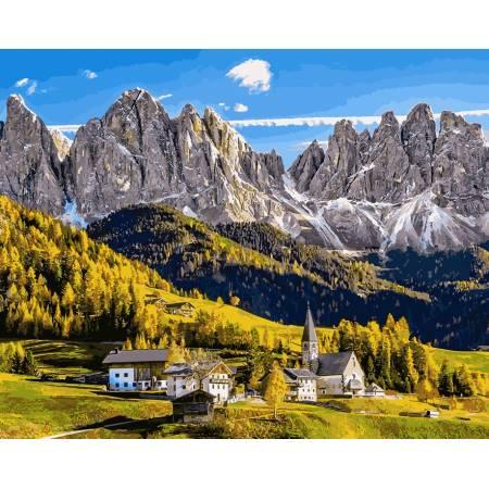 Картина по номерам «Заснеженные Альпы», модель VP907