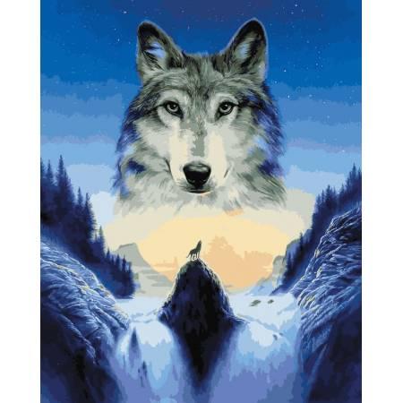 Картина по номерам Лунный волк VP929, Babylon