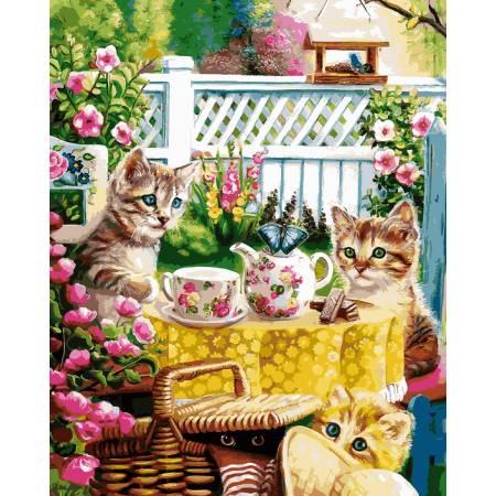 Картина по номерам Кошачье чаепитие VP931, Babylon