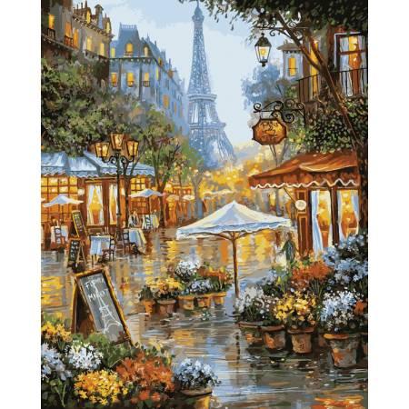 Картина по номерам «Летний дождь в Париже», модель VP941