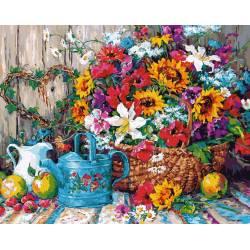 Натюрморт с цветочной лейкой