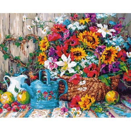Картина по номерам Натюрморт с цветочной лейкой VP944, Babylon