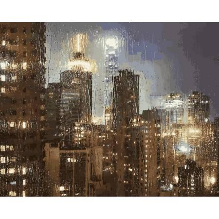 Картина по номерам Ночной дождь VP952, Babylon