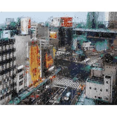 Картина по номерам «Дождь в мегаполисе», модель VP953