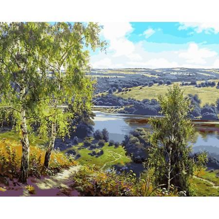 Картина по номерам «Дорога к реке», модель VP959