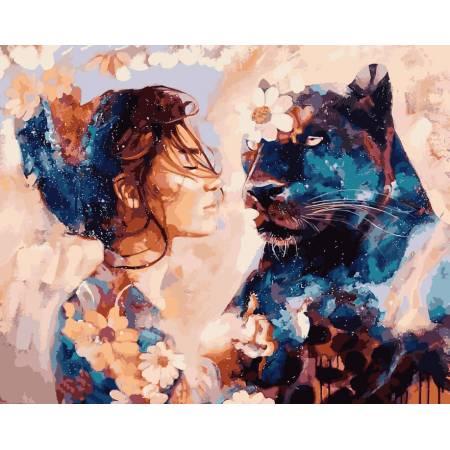 Картина по номерам Звездная пантера VP967, Babylon