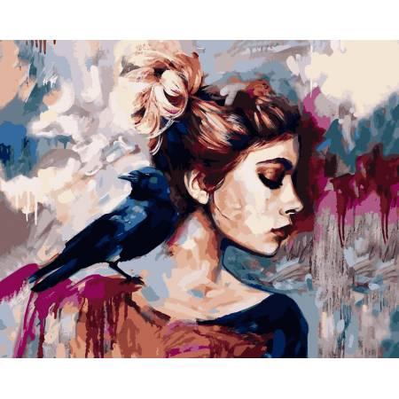 Картина по номерам Синяя птица VP974, Babylon