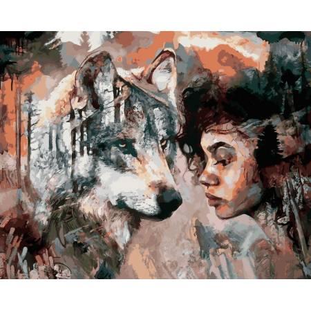 Картина по номерам Волчья душа VP975, Babylon
