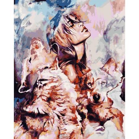Картина по номерам Волчья стая VP977, Babylon