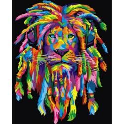 Радужный лев с дредами вертикальная