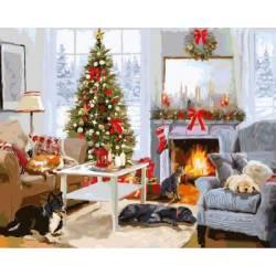 Рождественское утро у камина