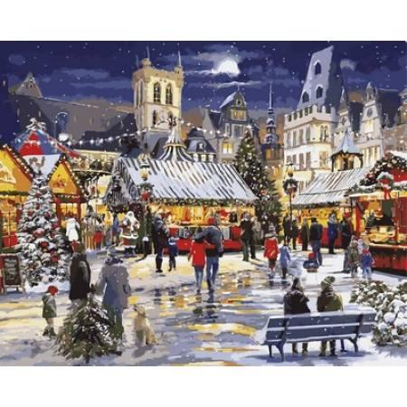 Картина по номерам Рождество в городе VP999, Babylon