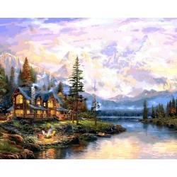 Дом у горного озера