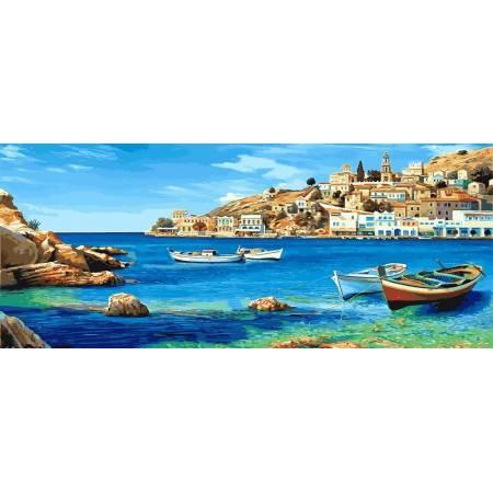 Картина по номерам «Лазурное побережье. Триптих», модель VPT033