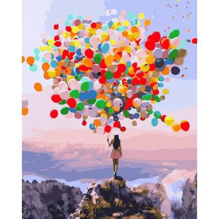 Картина по номерам - Разноцветные шары