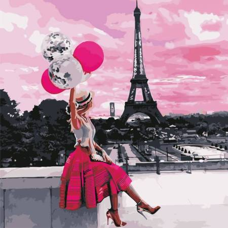 Картина по номерам Пейзаж Парижа AS0611, ArtStory