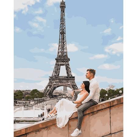 Картина по номерам Куровский и Литвин в Париже GX25455, Rainbow Art