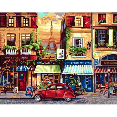 Картина по номерам Под Парижем GX7087, Rainbow Art