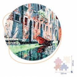 Гондола на канале Венеции (Размер S)