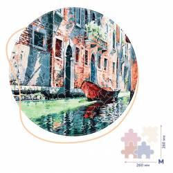 Гондола на канале Венеции (Размер M)