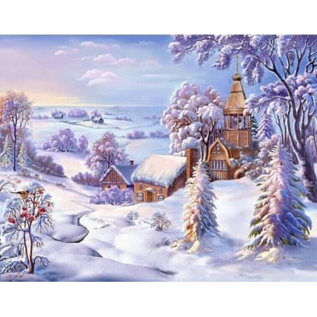 Картина по номерам - Зимняя красота природы